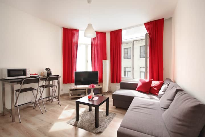 Trendy flat @ Antwerp Old Town + fast WiFi