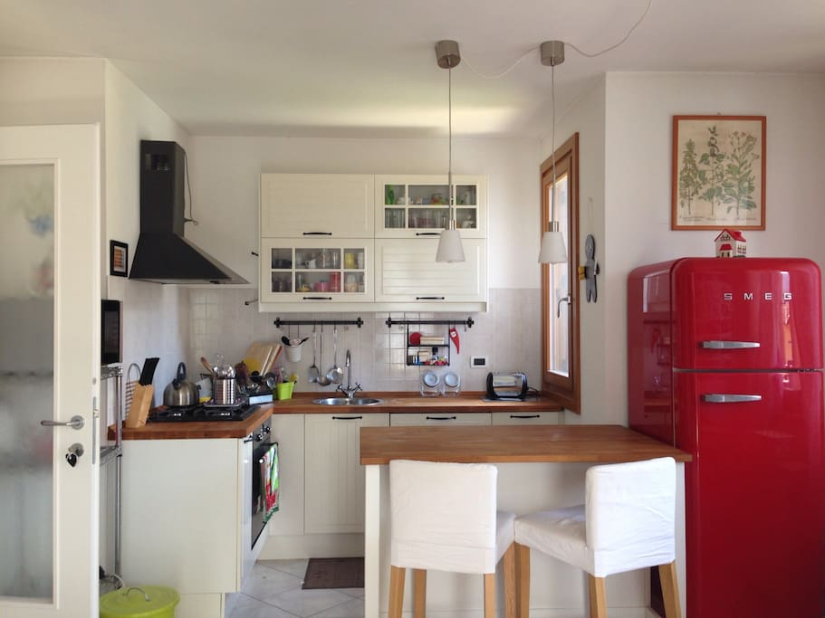 Our cosy, colorful kitchen