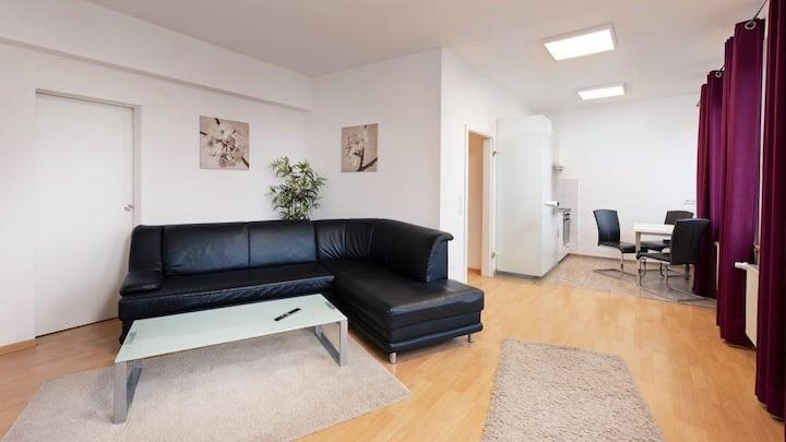 Boardinghouse Stadtvilla Budget (Schweinfurt), Dreibett-Apartment mit Küchenzeile und WLAN