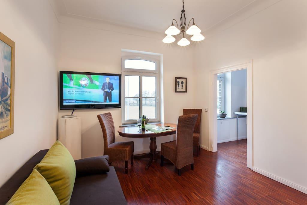 Wohnzimmer Blickrichtung Küche