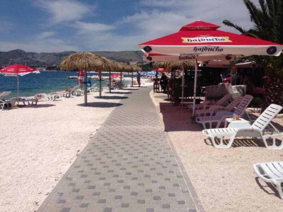 Strandmeile von Okrug Gornji