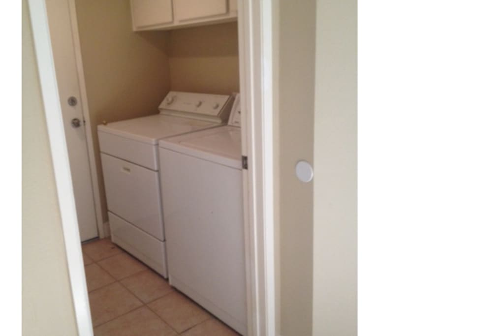 Laundry facilities available, first load free, small service fee after.