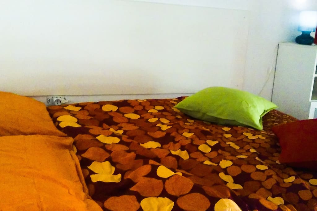 The bed upstairs