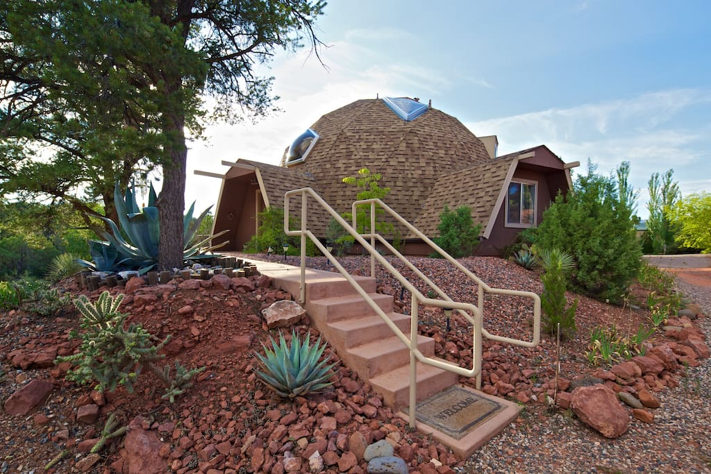 My Sedona Place - Home Sweet Dome! - Dome houses for Rent ...