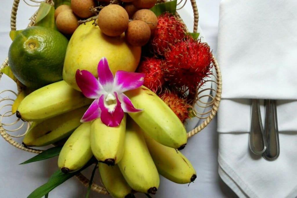 Fruit basket set up