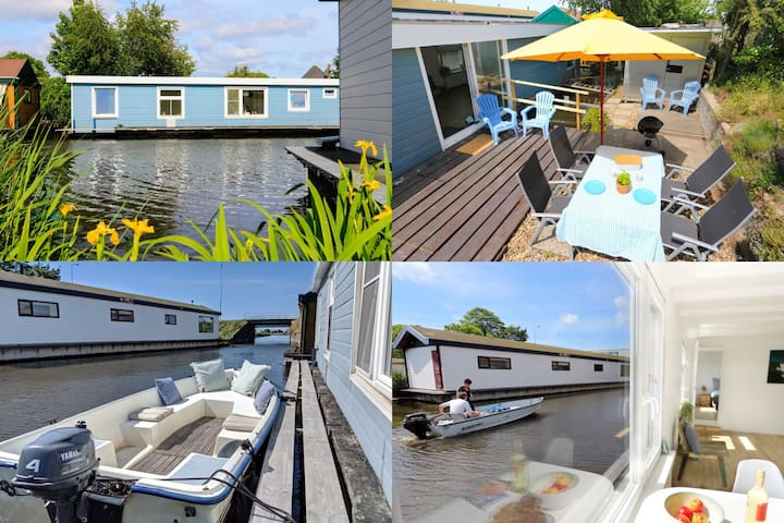 ★Unique houseboat near Amsterdam & windmills!★