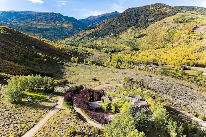 Private Luxury Aspen Ranch w/10,000 sq ft Home