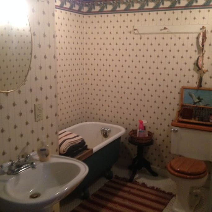 Private bathroom with old fashion tub-no shower