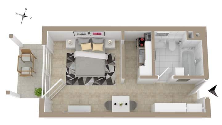 Wohnung + Balkon Nähe Audi/Innenstadt/Westpark W24