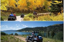 ATV trails in the spring, summer and fall on Skyline Drive.
