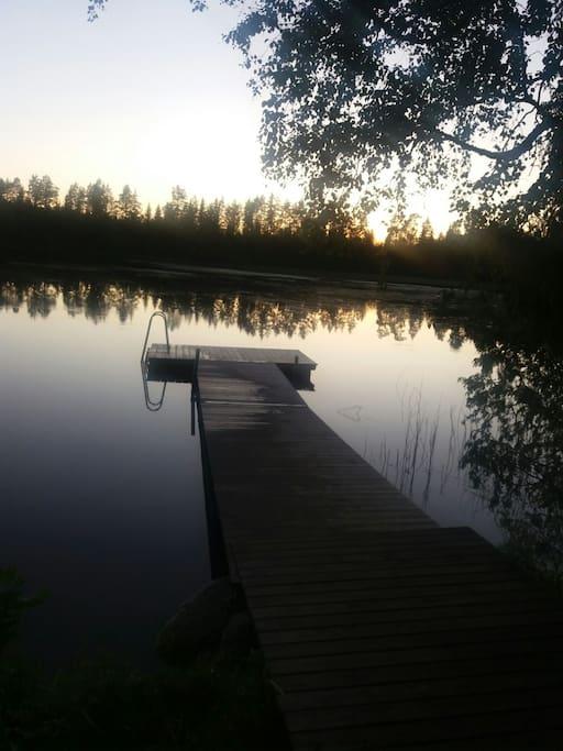 200 метров до озера