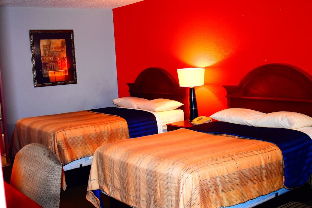 Two Double Bed Hotel Economy Inn In Little Rock Arkansas United States
