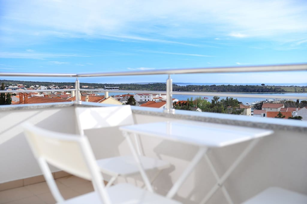 Cost and see view from main terrace in this apartment