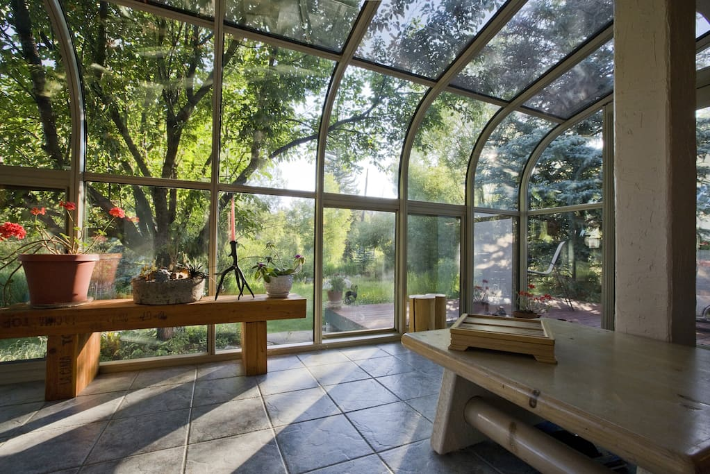 Our bright and airy sunroom view!