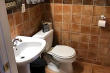 ** This is an EXTRA BEDROOM and is NOT included with the main space.**  It's available for an extra $50 per night ($150 minimum).  This is the bathroom for the extra space and has a shower as well.  Please message us to add this room to your booking.