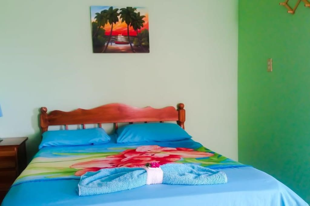 Simple Rooms are private with bathroom, could be one double bed like here or bunk style