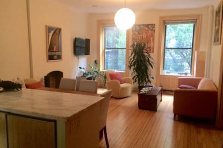 Quintessential 2-bedroom apartment in the Upper West Side. The apartment is sun filled, has high ceilings, private balcony, renovated bathroom and centrally located, next to Riverside & Central Park, subway, amazing restaurants and bars.