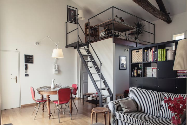 Luminous peaceful comfortable loft - Bolonha - Apartamento