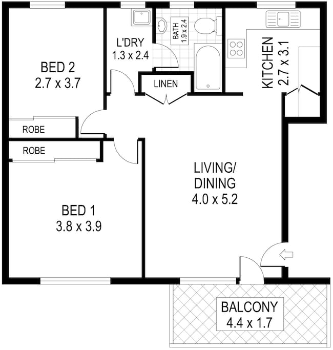 Whole apartment available to guests