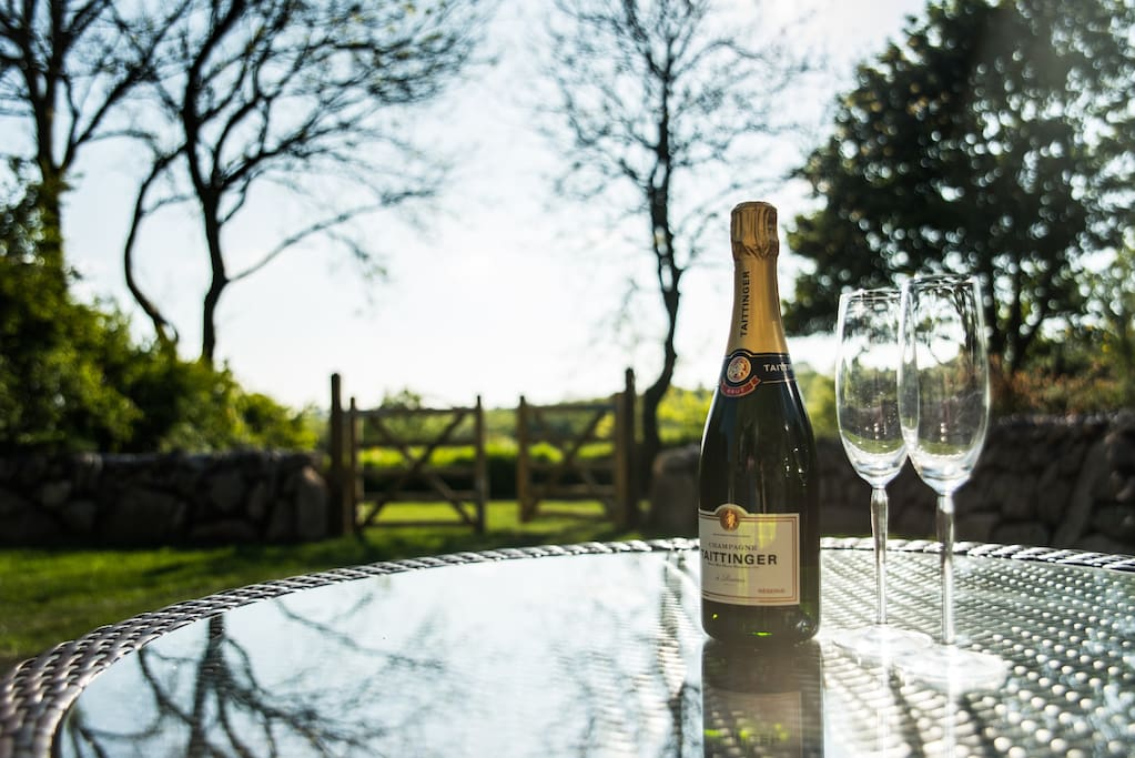 Soak up the the sun with a tipple on the patio