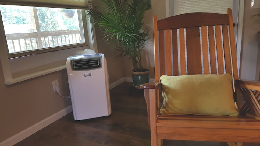 After the first heatwave of the summer we've decided to add a.c. to the list of amenities with this 14,000 btu portable a.c.