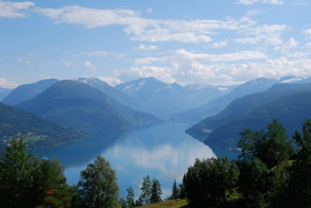 Indre Nordfjord, Utsikt frå Jakobstova