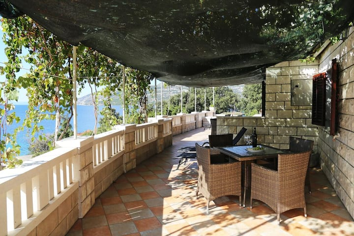 One bedroom apartment with terrace and sea view Tri Žala, Korčula (A-558-b)