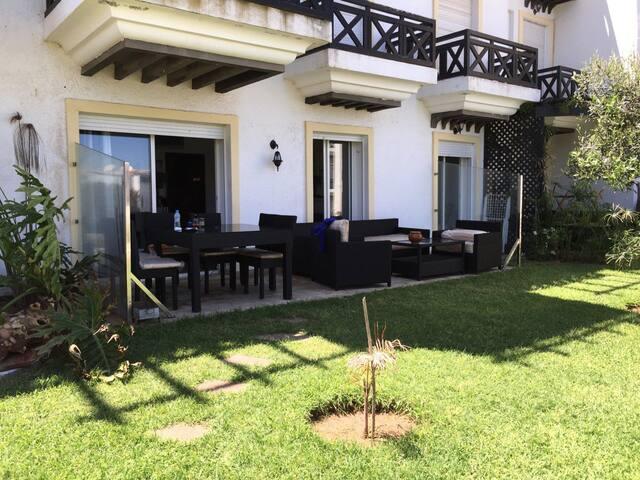 Appart RDC  jardin vue sur mer - Casablanca - Apartment