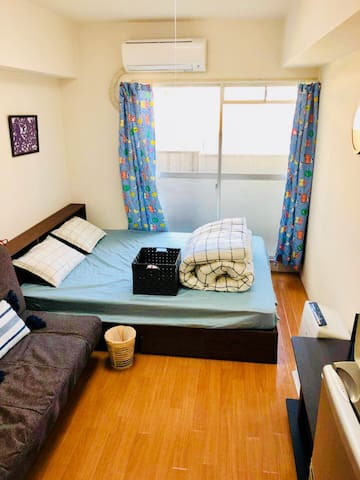 TENJIN central&4mins to大丸・三越・岩田屋&up to 3p&freeWIFI