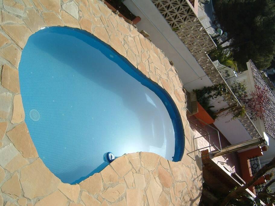 Kleiner privater Pool zum abkühlen und entspannen.