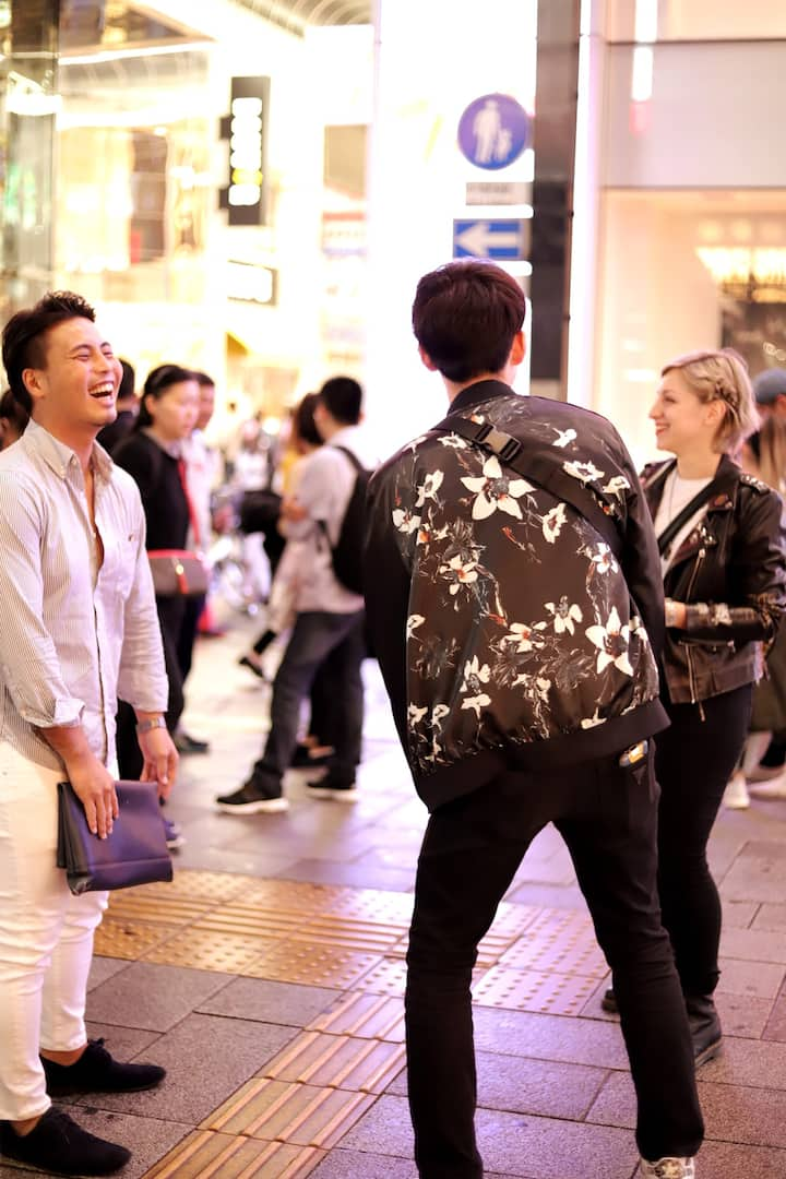 Meetup outside Shinsaibashi station