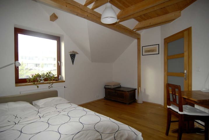 Cheap sunny room 10 min to airport - Prague - House