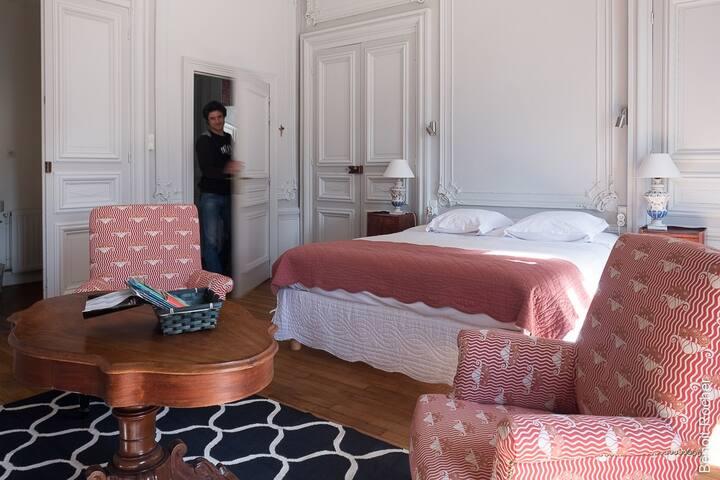 Jolie chambre de 40m² avec petit salon