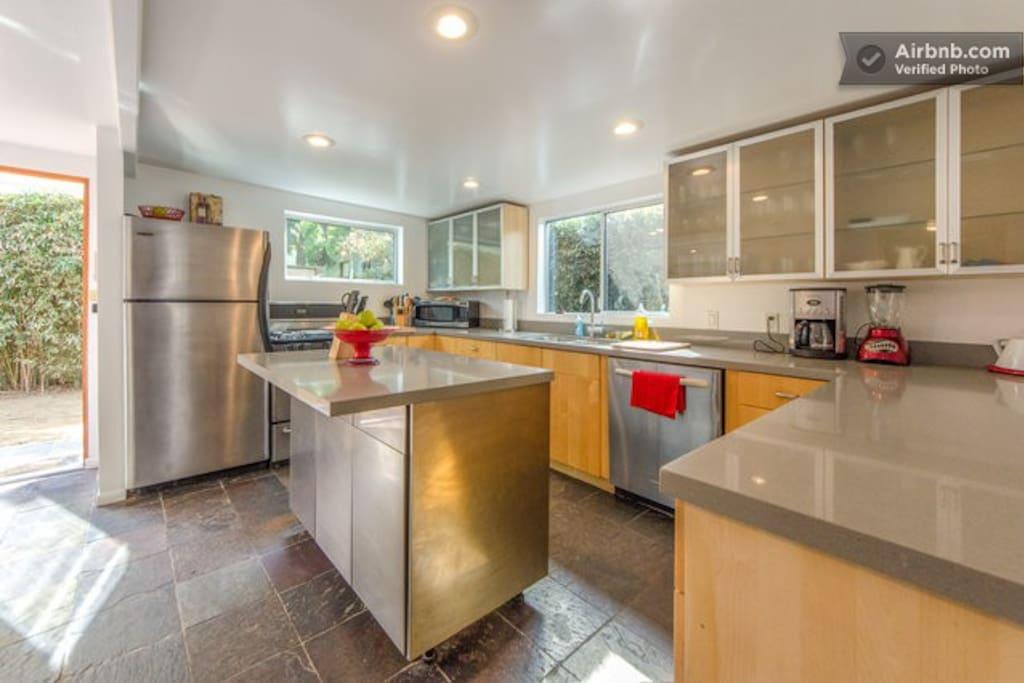 Large, open kitchen