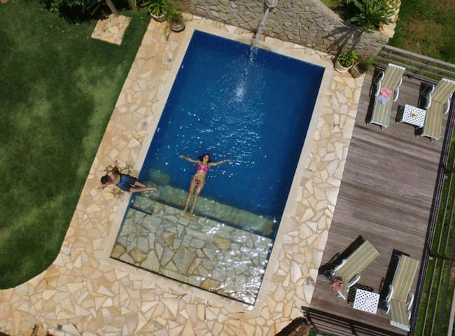 drone view of pool - yummy