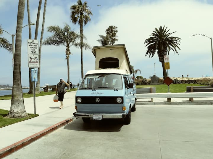 Van life by the beach