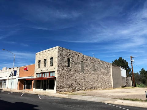 Stone building in historic downtown Ft Stockton