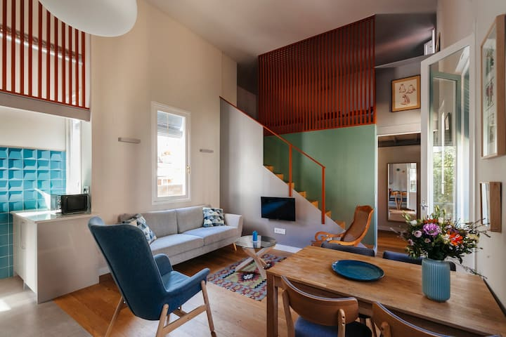 Stylish  loft with terrases, rented monthly