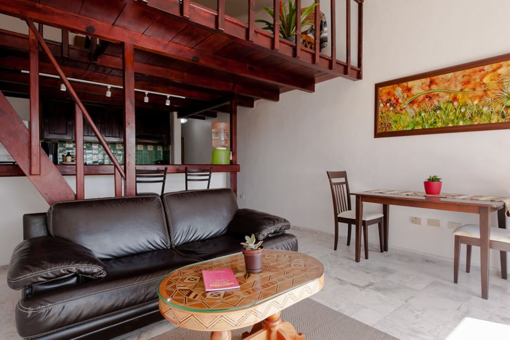 kitchen and loft view