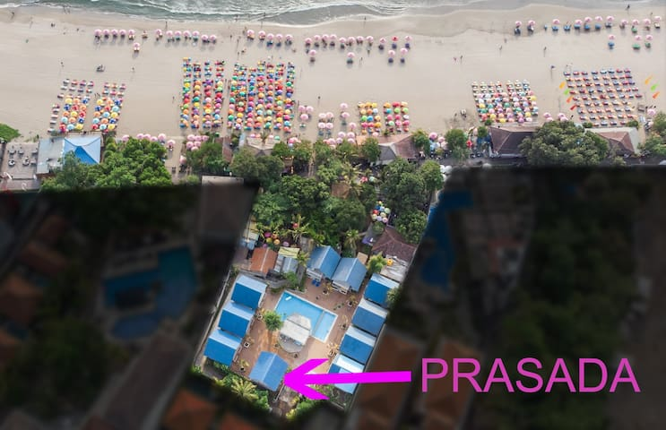*** PRASADA BEACH HUT, 30 meters SEMINYAK BEACH***