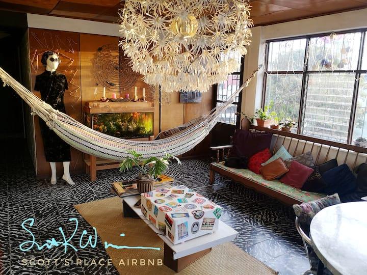 Hammocks in living room  Barrio Chino