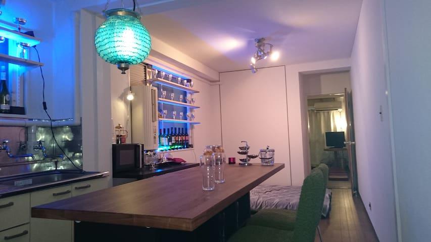 六本木駅1分 BARのある部屋 広い 5名OK - Minato - Appartamento