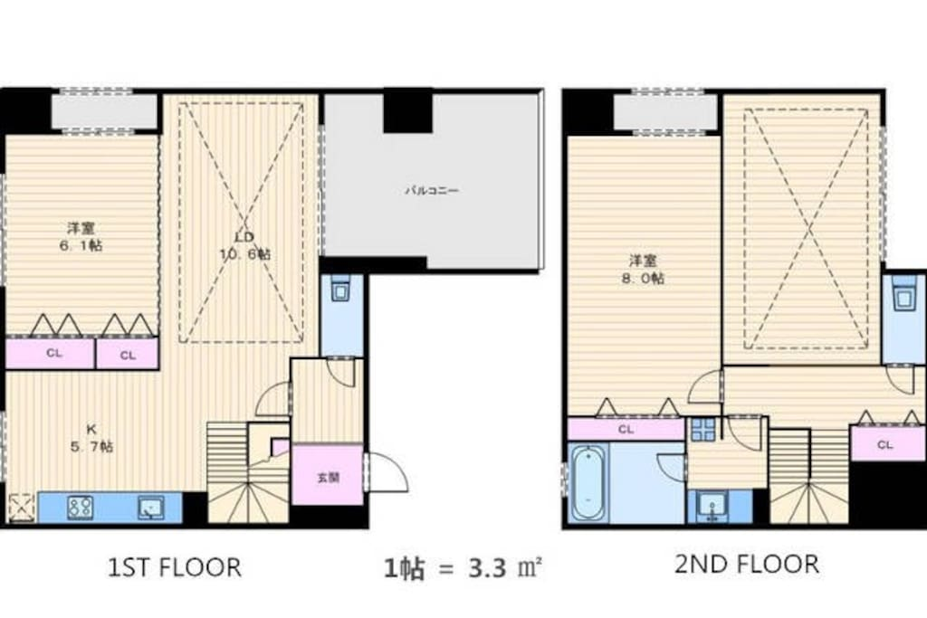 一楼、二楼平面图