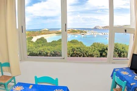 Panoramico vista mare,terrazza coperta,spiaggia70m - Santa Teresa di Gallura - Wohnung