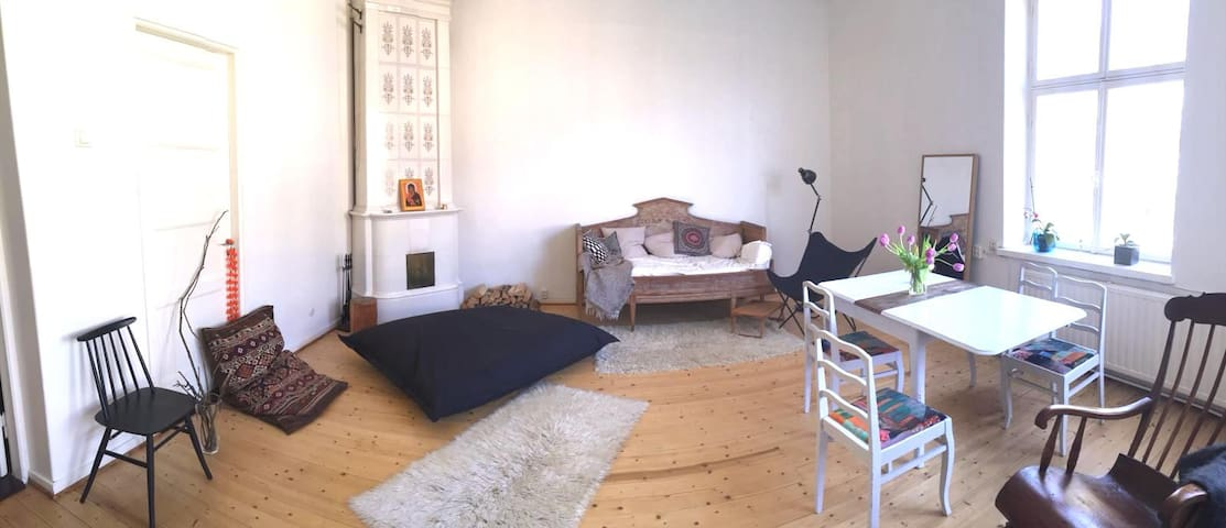 A very spacious and cosy living room.