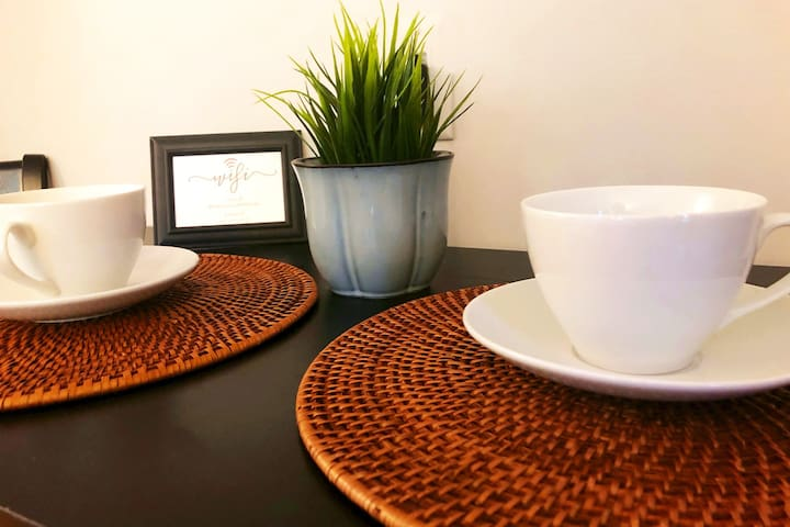 """Start your day with a cup of coffee...Keurig and K-cups are provided! .......... """"Loved the complimentary snacks and hot beverages-it was so nice to brew a cup of coffee in the morning and relax on the porch. """"   ~Katrina, Wilsonville, OR"""