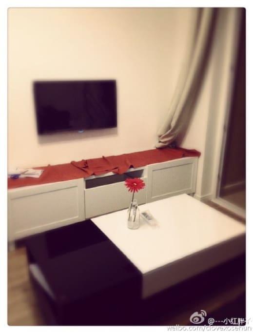 客厅与电视