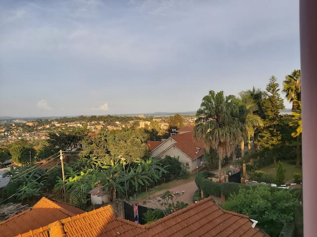 Perfect view of lake Victoria and Kampala city