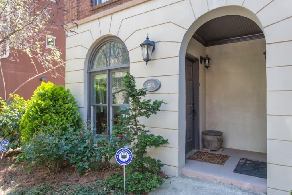 dedicated front door entrance