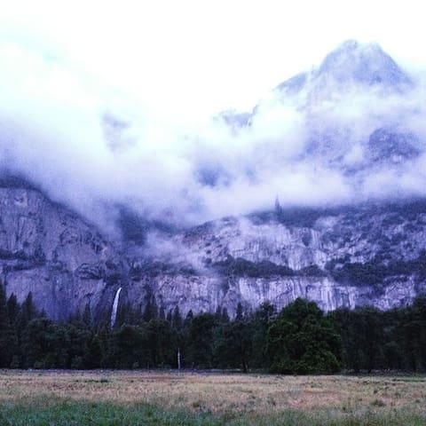 Yosemite through the clouds
